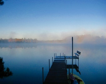 Misty Morning, Wisconsin Lake, Midwest landscapes, Wall Art, Office Decor