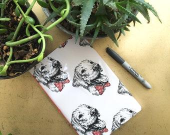 Golden retriever notebook, dog notebook , dog journal, golden retriever diary, dog notebook designer