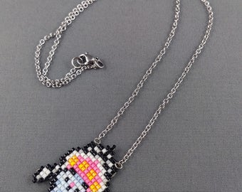 Inkay Necklace - Pokemon Necklace Pokemon Jewelry Pixel Necklace Video Game Necklace 8bit Jewelry Geeky Gifts Anime Necklace