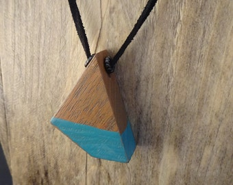Distressed Teal Mahogany Necklace