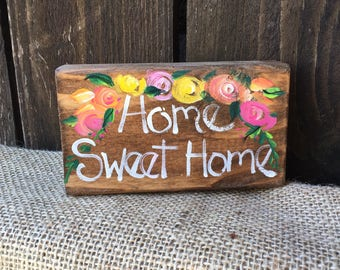 Wood sign, home sweet home
