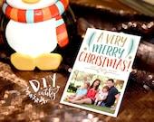 Custom Photo Christmas Card / A Very Merry Christmas Card / Digital File / Printable Design / Christmas Card / DIY Printable