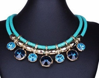 Gorgeous Shades of Blue Necklace