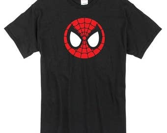 Spiderman T-Shirt black icon logo 100% cotton homecoming