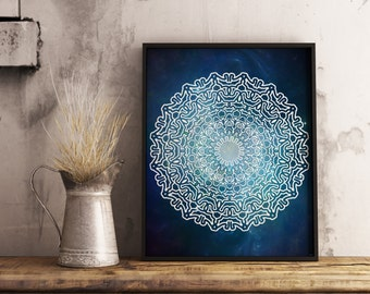 Mandala Galaxy , Space art , printable mandala , print , illustration , drawing , Galaxy , doodle art , meditation , boho art , inspiration