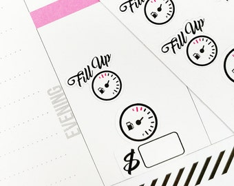 Fuel Fill Up Planner Stickers