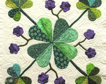 Clover Quilt Block Pattern for Nature's Bounty Quilt