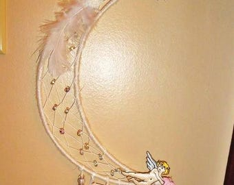 Moonbeams and angels dreamcatcher
