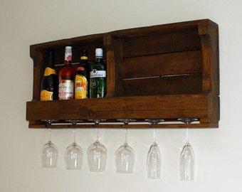 Rustic Reclaimed Wood Wine Rack