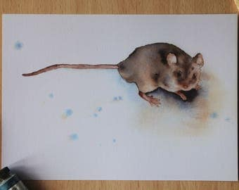 Field mouse Watercolor Print