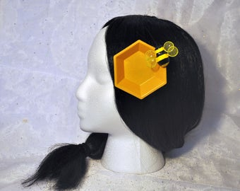 honeycomb inspired hair accessory
