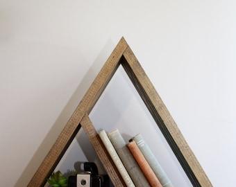 Triangle Shelf, Geometric Shelf, Rustic Shelf, Pyramid