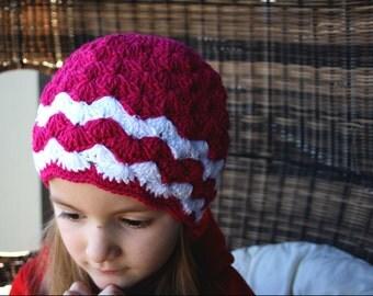 Seashell Crochet Beanie for Girls