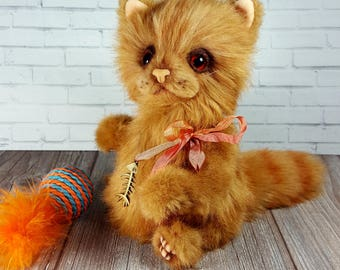Soft toy handmade Teddy Cat Filya