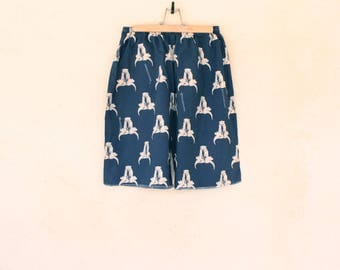 Vintage Navy Blue Ramskull Shorts - Size Medium