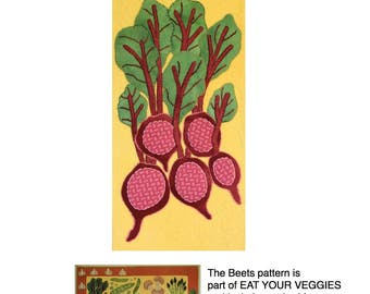 Beets - a pattern from the Eat Your Veggies wool applique quilt
