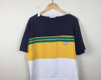 Vintage NAUTICA T Shirt, Striped T Shirt, Striped Shirt, Women's Nautica