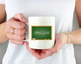 Unique Teacher Gifts - Teacher Appreciation Gift - Teacher Coffee Mug -Back to School Mug - Teacher Monogram - Personalized Teacher Gift