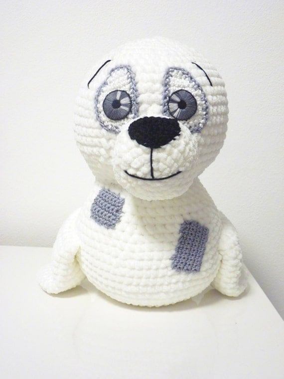Crochet Pattern Seal Tony Amigurumi PDF Cute White Seal With