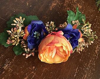MAY- Wedding Dog Collar, Dog Flower Crown, Floral Dog Collar, Spring Wedding, Boho Wedding, Bohemian Wedding, Dog Flower Girl, Pet Wreath