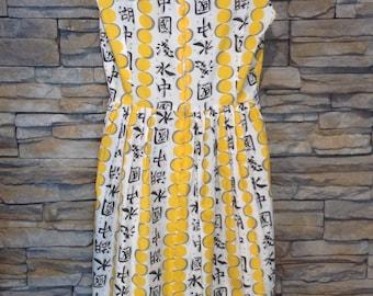 Vintage 1950's novelty dress, chinese dress