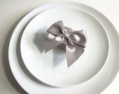 Silver Napkin Rings, Table Decor, Wedding Napkin Rings, Wedding Decor, Party Decor, Bridal Shower Decor, Napkin Ring Holders, Red Bow, Pink