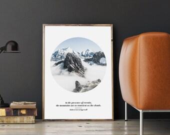Mountain art | Mountain quote, Mountain print, Nature prints, Nature art, Nature quote prints | Digital download
