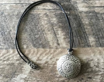 Leather Pendant Necklace, Boho Necklace, For Women, Gift For Her