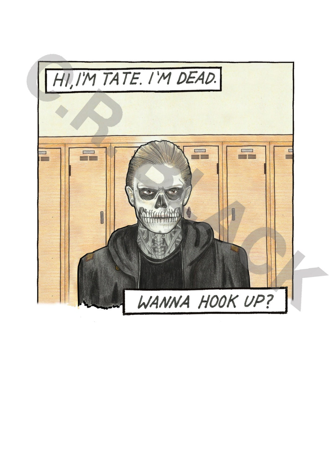 American horror story tate langdon for American horror story wall mural