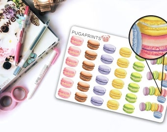 Sweets: Macarons || 34 Sweet Deco Stickers