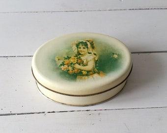 Antique storage tin