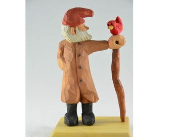 Man with Bird and Walking Stick