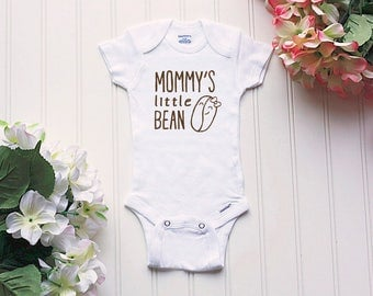 Mommy's Little Bean Onesie® - mommy coffee Onesie®, new mom outfit, coffee Onesie®, baby name Onesie®, coffee outfit, funny coffee, caffeine