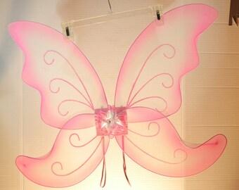 JUMBO Pink Butterfly/Fairy Wings