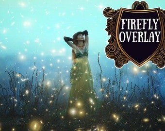 20 Forest Firefly overlays Fireflies Overlay fairy tale mystical lightning bug summer overlays  Photoshop Digital