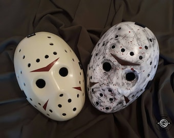 Inspired Jason Voorhees Mask Friday the 13th, Horror Halloween Mask, Jason Voorhees Cosplay, Handmade, Hockey Mask, New or Battle Damaged.
