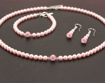 Pearlset emma-Bridal, bridal jewelry, swarovski, beads, wedding jewelry, wedding, jewelry