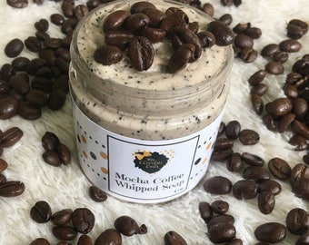 Mocha Coffee Scrub, Coffee Whipped Soap, Coffee Scrub, Emulsified Coffee Scrub, Sugar Scrub