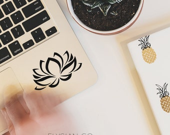 Lotus Flower Decal, Vinyl Decal, Laptop Decal, Macbook Decal, Car Decal, iPad Decal