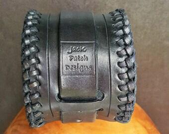 Leather Cuff Bracelet, Leather Cuff, Leather Cuff Men, Leather Bracelet, Leather Wrist Cuff, Handmade Leather Cuff, Black Leather Cuff, Cuff