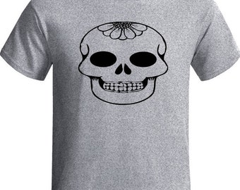 Day of the dead Short sleeve  Graphic Design Unisex Adult Clothing Independent design Streetwear Skull Art T-shirt Workout T-shirt Teens Tee