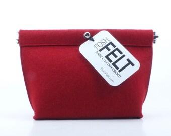 Wool Felt Cosmetic/Accessory Bag