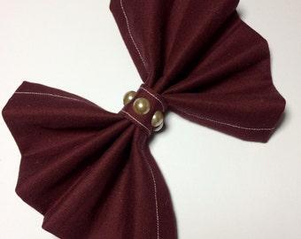Burgundy Hair Bow / Wine Hair Bows/ Hair Clips for Girls/ Large Burgundy Hair Bow/ Burgundy Hair Accessories / Burgundy Clips