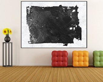 Original Acrylic Painting Abstract Wall art, black and white acanvas painting