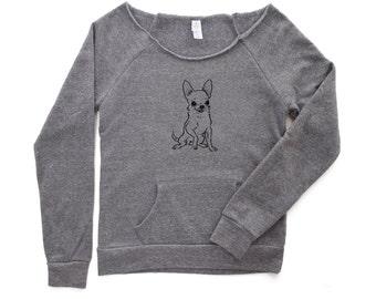 Too cute for words Chihuahua Sweatshirt - Chihuahua Sweater - Gift for mom - Chihuahua Shirt - Chihuahua Tshirt - Cute Animal Sweater