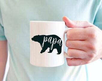 Gift for Dad | Papa Bear Mug | Dad Coffee Mug | New Dad Gift | New Parent | Fathers Day Gift | Baby Shower Gift | 11 oz Mug | 15 oz Mug