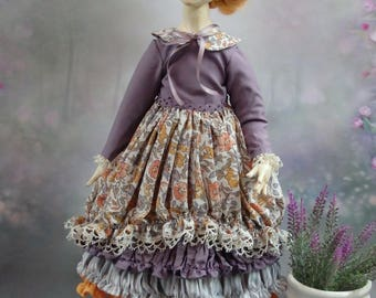 OOAK Souvenir Art doll Marie Handmade doll Collectible doll interior What to gift ?Home decor Red-haired doll as a gift Gift idea for girls