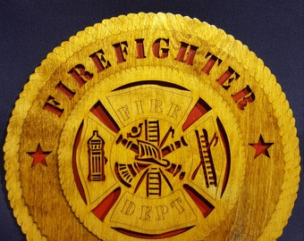 """12"""" Firefighter EMT wall tribute"""