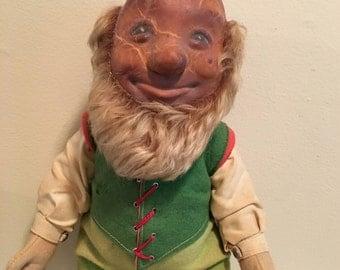 """Steiff Gnome Dwarf 1950's """"Lucki"""""""