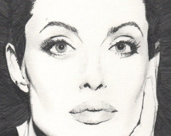 Angelina Jolie - A4 Pencil Drawing